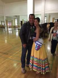 El maestro Rafael Ornelas del Ballet Folklórico de México de Amalia Hernández y ensayador de la Compañía de Danza Neoclásica y Contemporánea México en Movimiento , y la bailarina Elisa Carrillo .