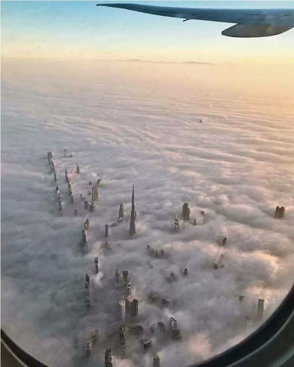 Rascacielos foto aérea .