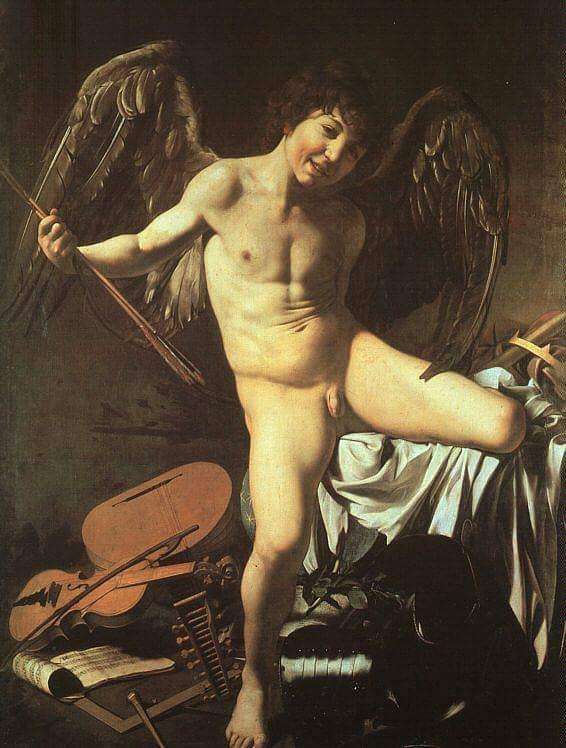 Cupido , Amor , Lienzo de gran formato . Paul Cezanne , Aix-en-Provence , Provence-Alpes-Côte-d'Azur .
